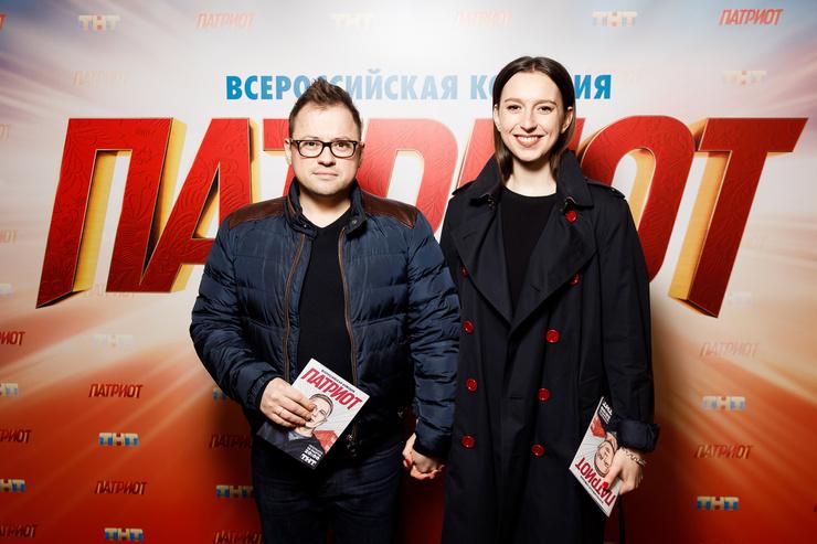 Премьеру нового сериала «Патриот» посетили многие звезды. Например, Андрей Гайдулян с девушкой