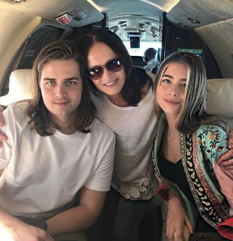 София Ротару с внуками Анатолием и Соней