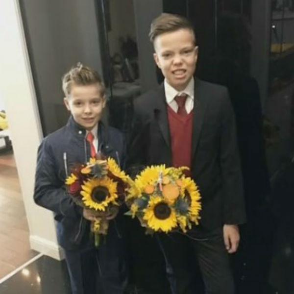 Сыновья певца 15-летний Иван и 10-летний Артемий