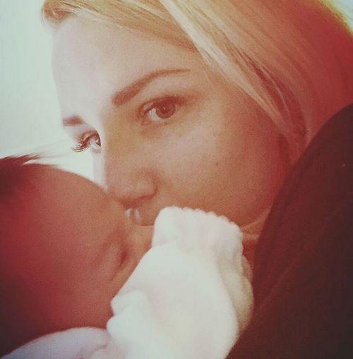 Валерия с малышкой Севериной