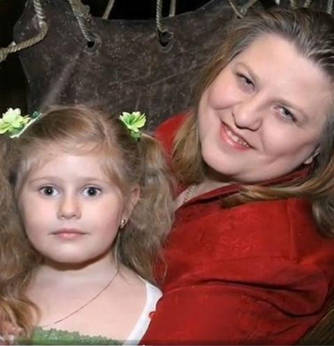 Катя Огонек с дочерью