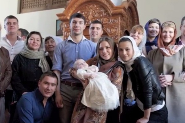 Крещение дочки Олега Винника
