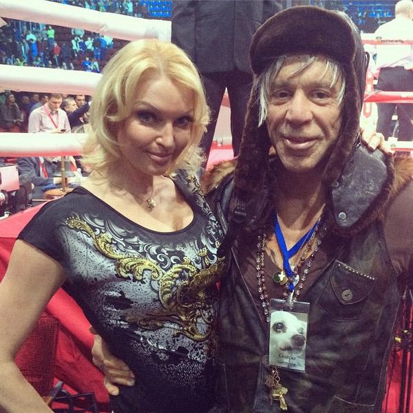Анастасия Волочкова с Микки Рурком после боя