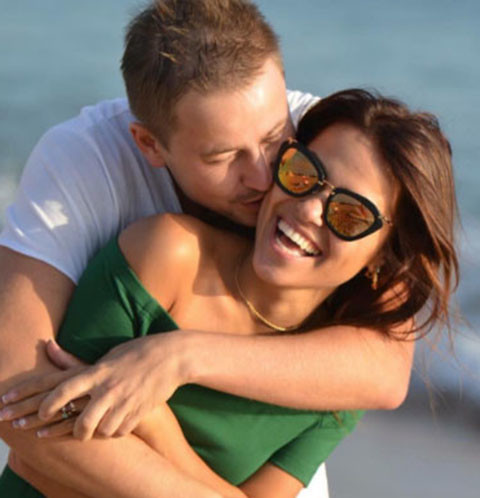 Галина Ржаксенская и ее будущий муж Евгений