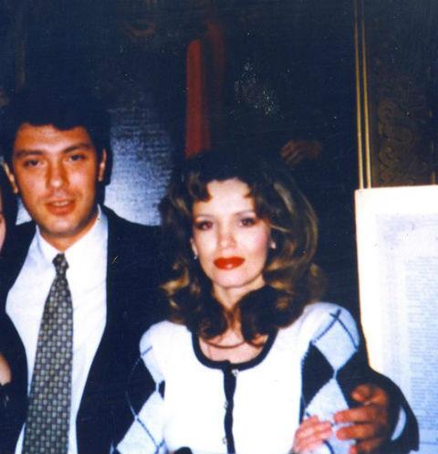 Борис Немцов и Анна Лесникова