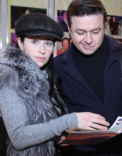 Любовь Тихомирова с супругом