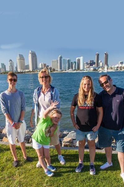 Михаил Шац и Татьяна Лазарева с детьми