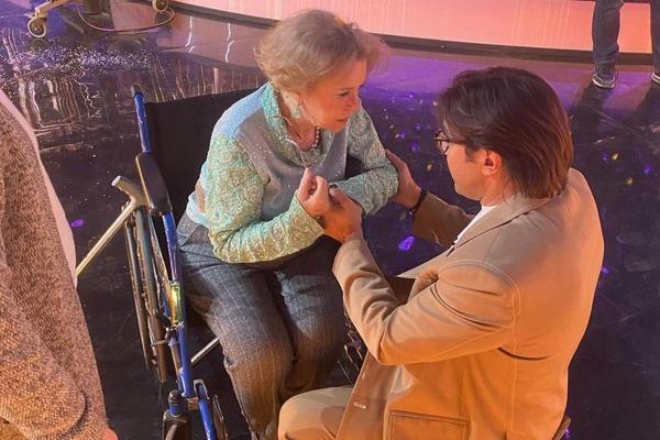 Талызина была на шоу в инвалидной коляске