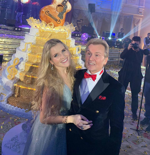 Александр Малинин с дочкой