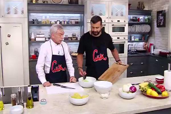 Юрий Николаев в гостях у Ивана Урганта готовил окрошку и молочный коктейль