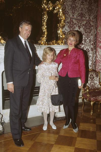 Ксения и ее родители, Анатолий Собчак и Людмила Нарусова