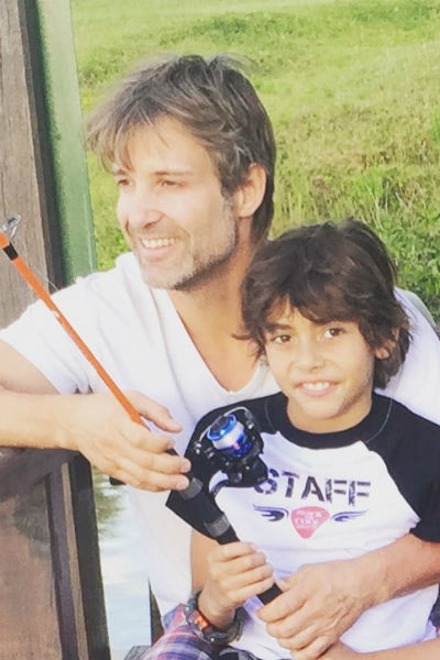 Актер часто проводит время с сыном