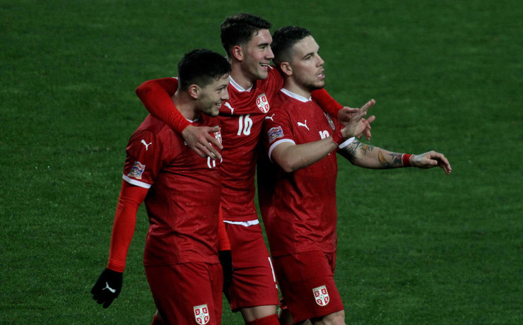 Сербские футболисты оказались намного сильнее российских