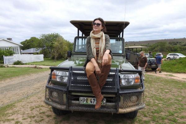 Телеведущая прекрасно проводит время в ЮАР