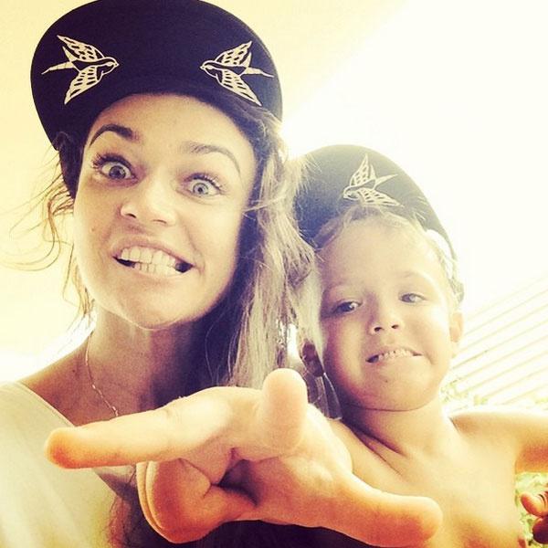 Алена с сыном Богданом