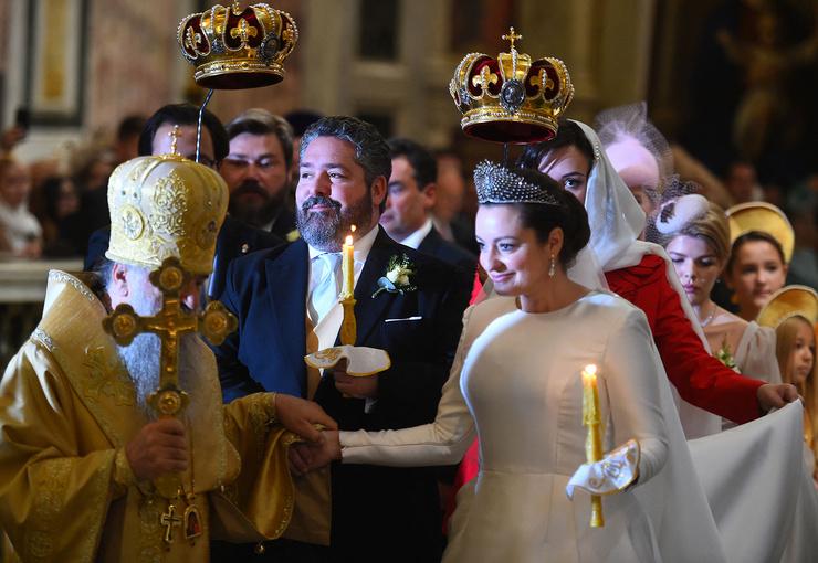 Церемония проходит в Исаакиевском соборе