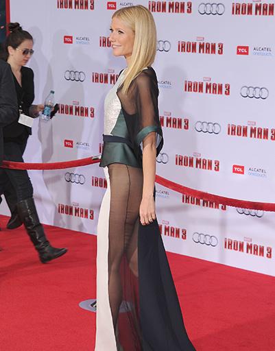 """Гвинет Пэлтроу на премьере фильма """"Железный человек 3"""" в апреле 2013 года"""