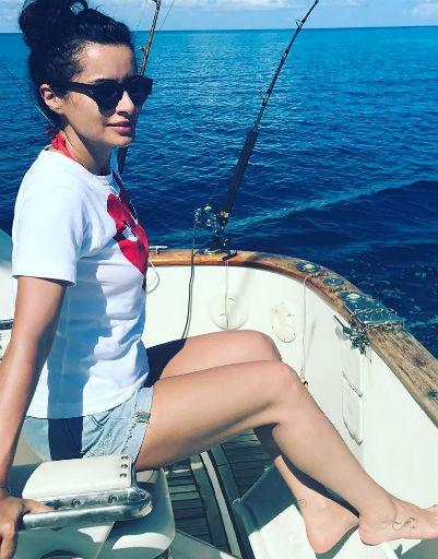 Тина Канделаки выбралась на рыбалку