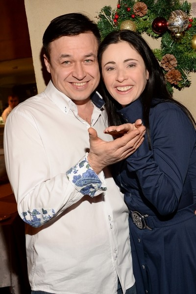 Любовь Тихомирова с мужем