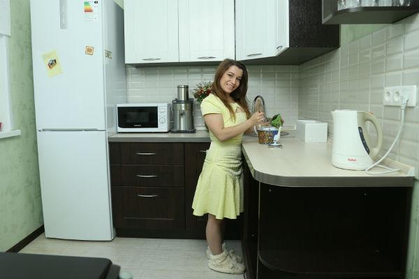 Из-за кухни Ксения даже поругалась с мужем