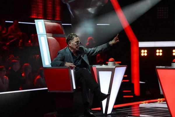 Григорий Лепс на съемках «Голоса»