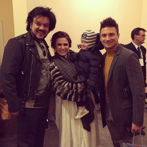 Филипп Киркоров, Эвелина Бледанс с сыном Семеном и Сергей Лазарев