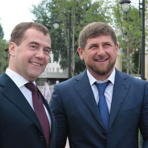Рамзан Кадыров и Дмитрий Медведев