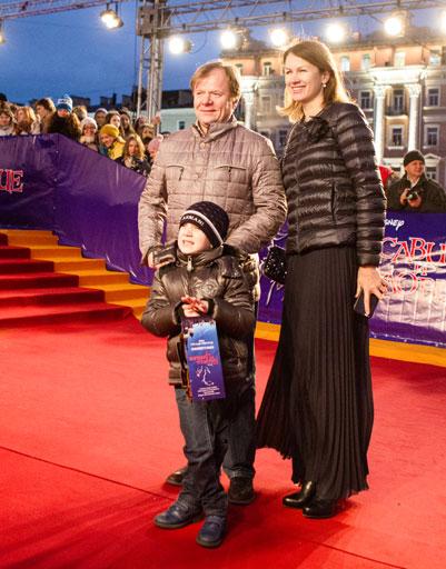 Игорь Бутман с бывшей женой и сыном