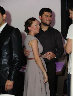 Татьяна Морозова с мужем на дне рождения Михаила Галустяна