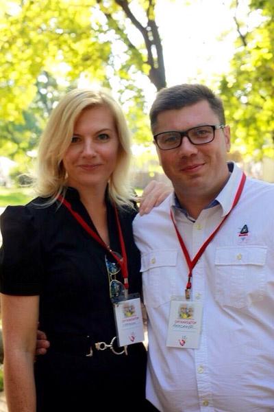 Организаторы акции Александр Петухов и Екатерина Горожанова