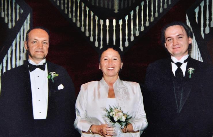 Наталья с супругом и сыном Ильей