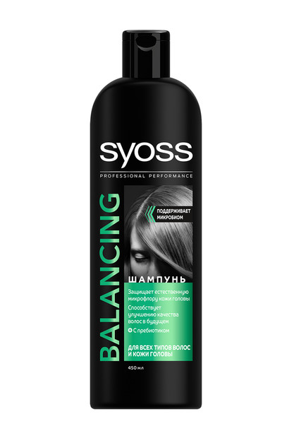 Балансирующий шампунь Syoss с пребиотиком для поддержания баланса микробиома кожи головы