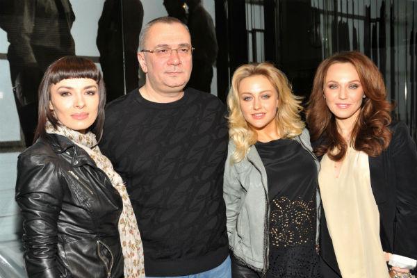 Альбина Джанабаева, Надежда Грановская, Ева Бушмина и Константин Меладзе