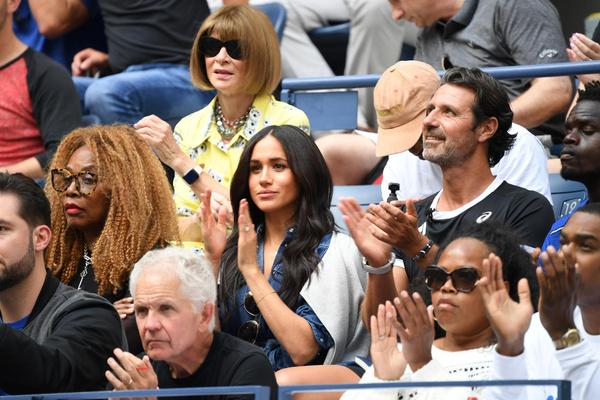 Меган Маркл на финальной игре US Open