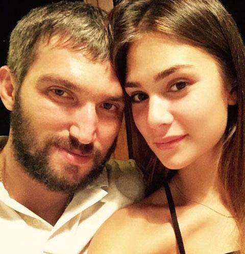 Александр Овечкин и Настасья Шубская