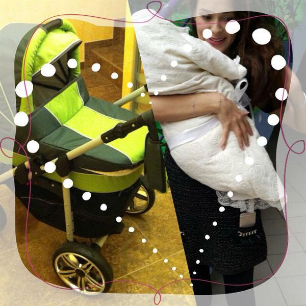 Лишь сегодня Анна впервые поделилась снимком с сыном на руках
