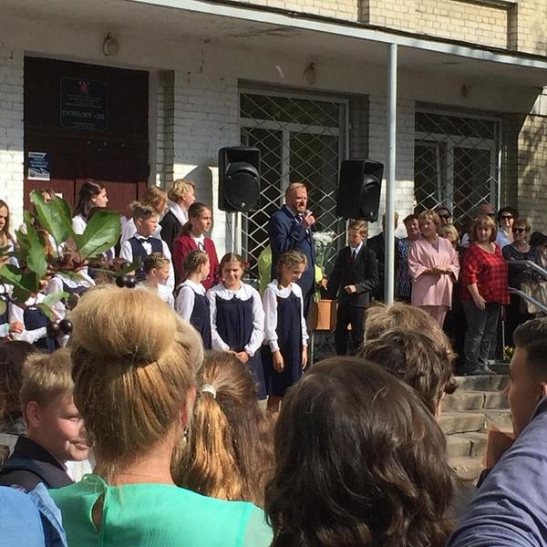 Милонов выступил с речью в День знаний
