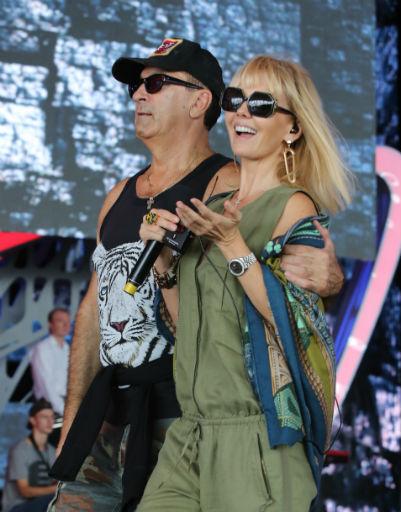 Певица Валерия и Александр Буйнов
