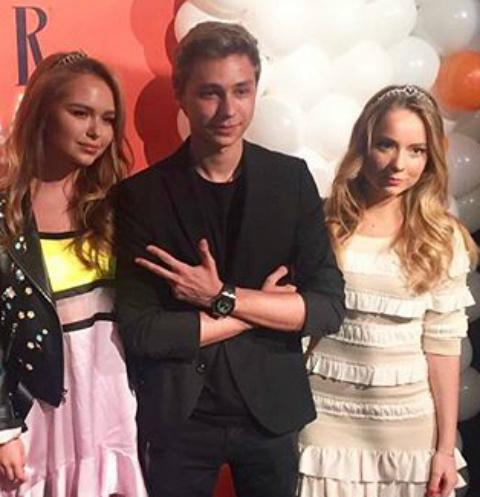 Дмитрий Маликов с сестрой Стефанией и Александрой Жулиной