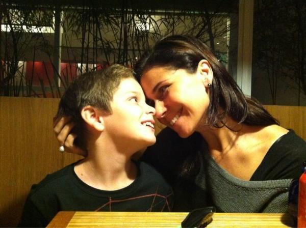 Джованна Антонелли с сыном