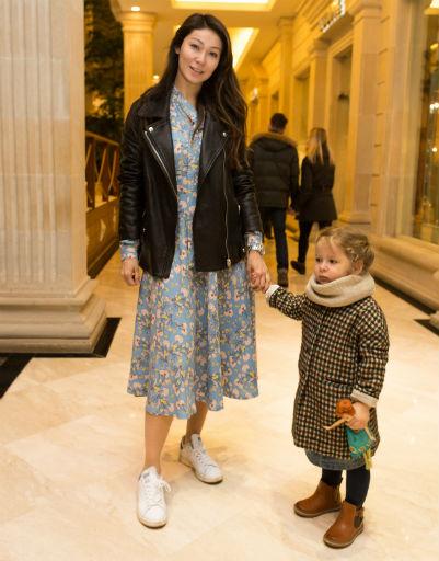 Марина Ким с дочерью Брианой