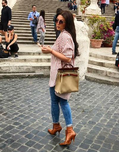 Ирина Дубцова отдыхает в Италии