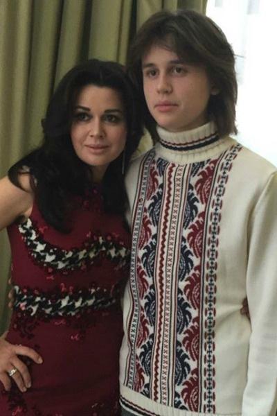 Актриса с сыном Майклом