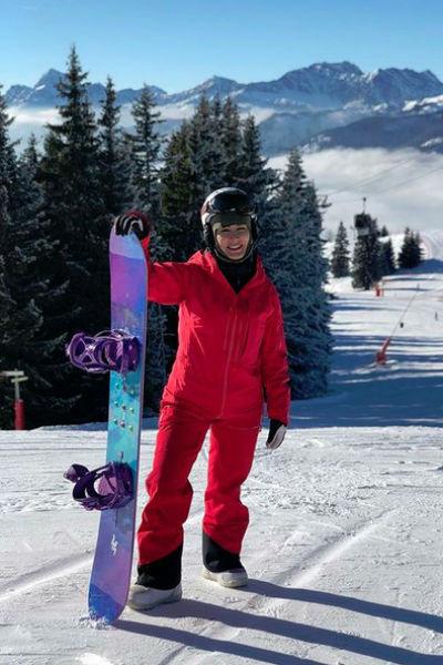 Тина Канделаки на недавнем отдыхе на горнолыжном курорте