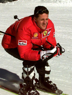 Михаэль Шумахер на лыжах