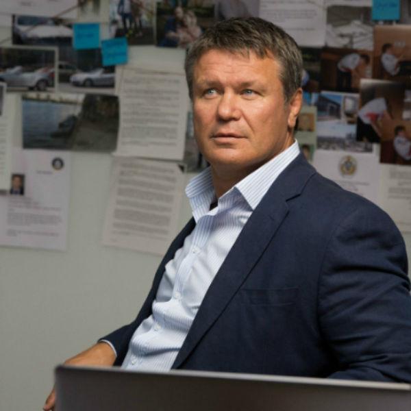 Олег Тактаров на съемках сериала