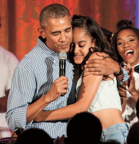 Барак Обама с дочерью Малией