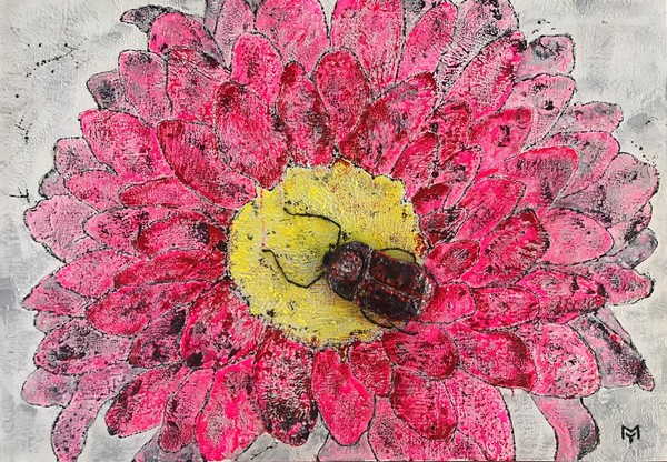 Художник Юлия Мамонтова пишет картины пчелиным воском