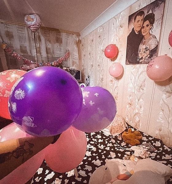 Супруг украсил квартиру шарами