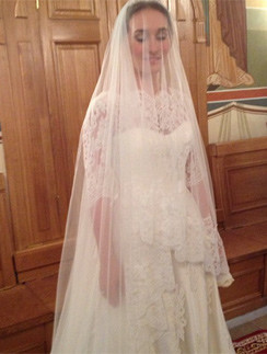 Анастасия Винокур на церемонии венчания